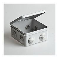 Распаячная коробка ОП 80x80x50 мм IP54, 7 входов TDM