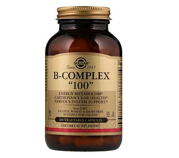 Solgar, Комплекс витаминов группы B «100», 100 растительных капсул