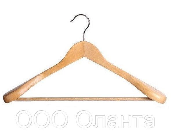 Вешалка костюмная деревянная с перекладиной (L=450 мм) арт. 44SPNW