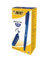 Ручка шариковая автоматическая BIC Round Stic Clic, 1,00мм, синяя