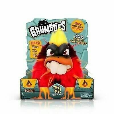 Игрушка интерактивная Grumblies Plush Interactive Red Toy Meltdown