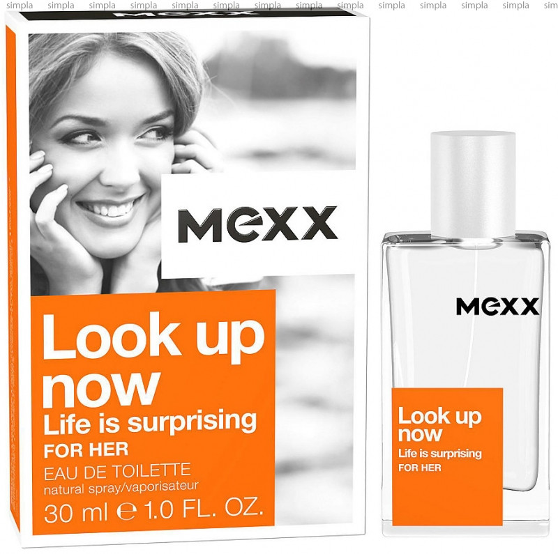 Mexx LOOK UP NOW: Life Is Surprising For Her туалетная вода объем 15 мл (ОРИГИНАЛ)