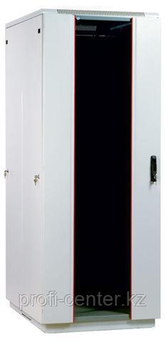 """Шкаф стандартный сетевой  19"""" 22U 600х600х1166, цвет черный, дверь стекло"""