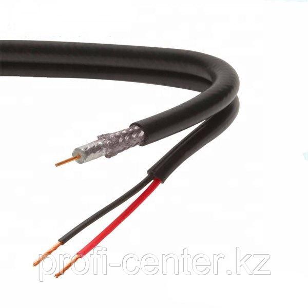 Кабель для видеонаблюдения  Cabele with power for CCTV 75-5+2*0.75 (200м) (КВК 2*0,75 уличный)