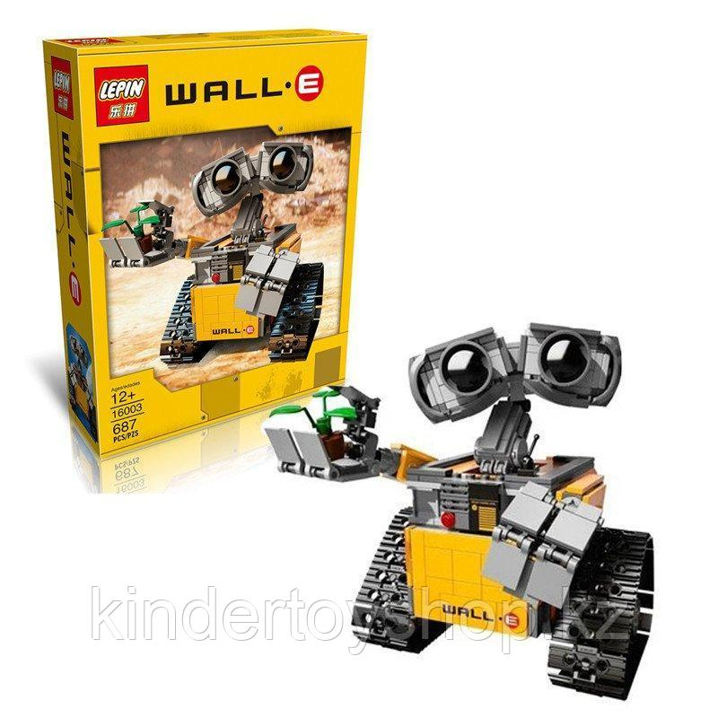 Конструктор Lepin16003 Ideas ВАЛЛ-И  (Аналог LEGO Ideas Wall-E 21303 ) количество деталей: 687 шт.