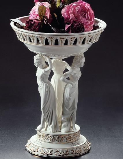 Ваза-Фруктовница Грация. Керамика, ручная работа, Италия