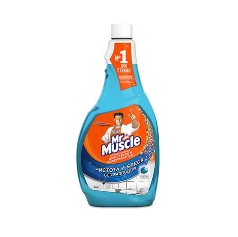 "Средство д/мытья стекол и поверхностей ""Мистер Мускул"" 0,5 л. смен.бут., фото 2"