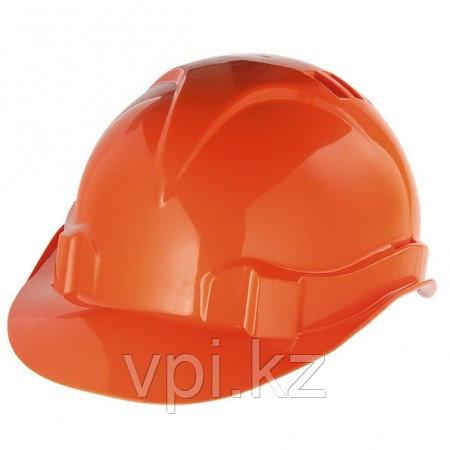 Каска защитная из ударопрочной пластмассы, оранжевая, Сибртех