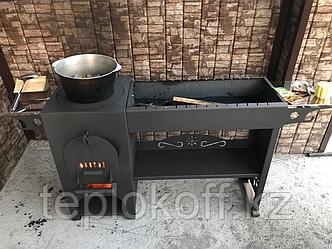 Печь типа казан-мангал Жаркофф комбинированная