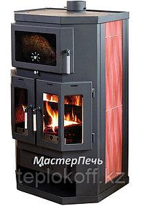 Отопительно-варочная печь-камин с духовкой Мастерпечь ПК-05