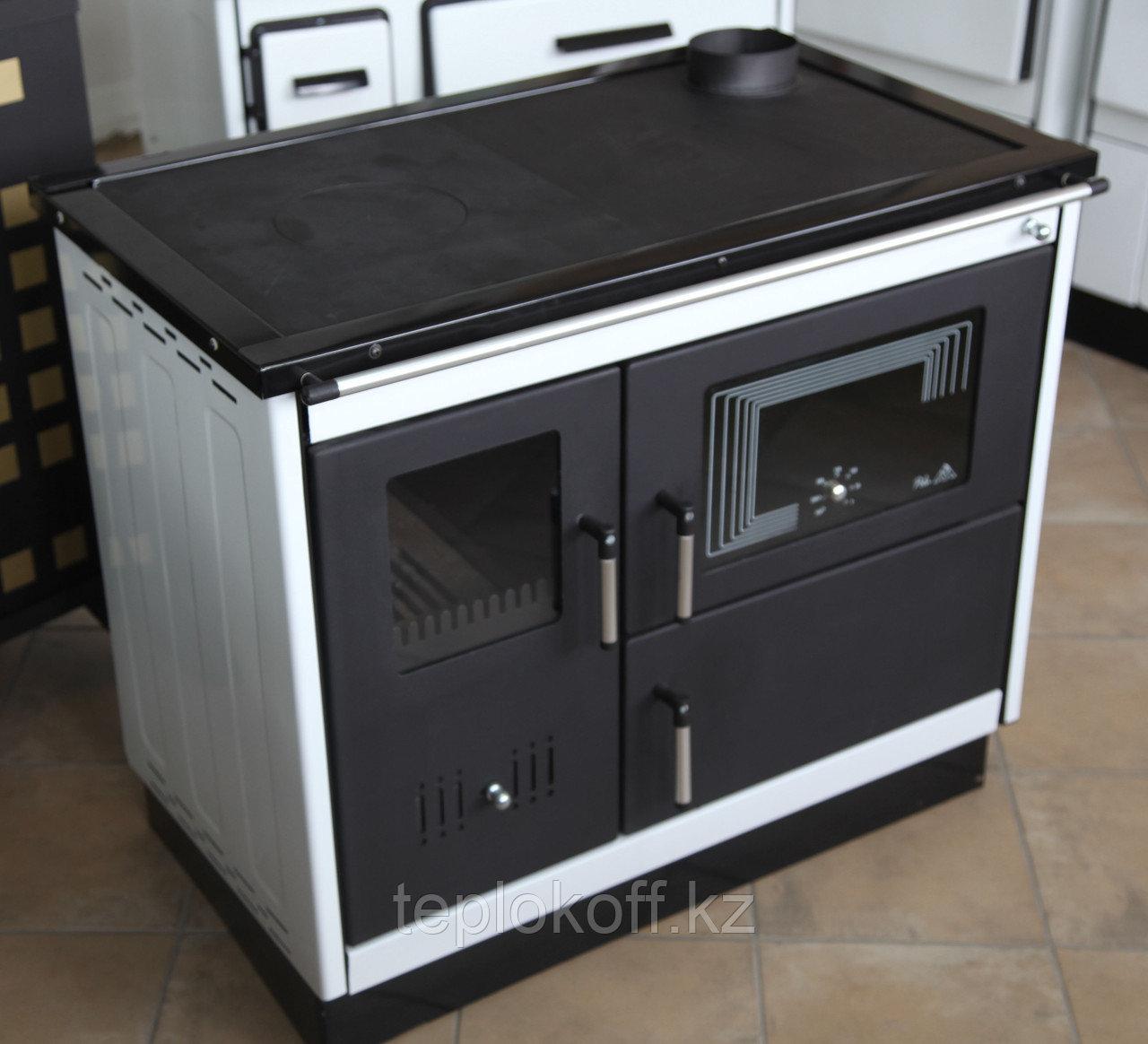 Отопительно-варочная печь с духовкой и водяным контуром Мастерпечь ПВВ-10