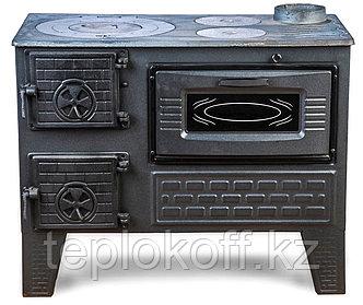 Чугунная отопительно-варочная печь с духовкой Мастерпечь ПВ-04