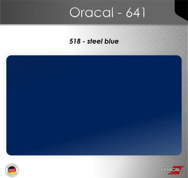Пленка Оракал 641/стальной синий (518)
