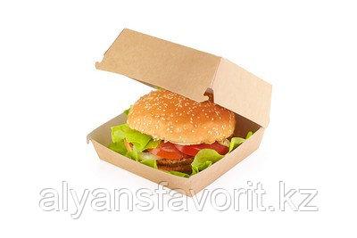Eco Burger L- упаковка для бургеров, размер: 140*140*70 мм.РФ, фото 2
