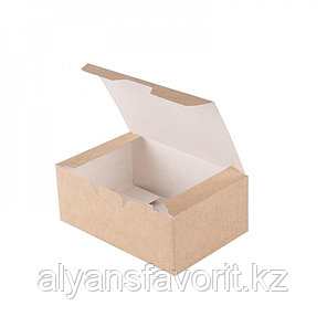 EcoFast food box, S- контейнер бумажный,размер: 115*75*45 мм.РФ, фото 2