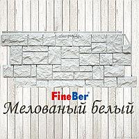 """Фасадная панель  Fine Ber """"Камень дикий"""" (Мелованый белый)"""