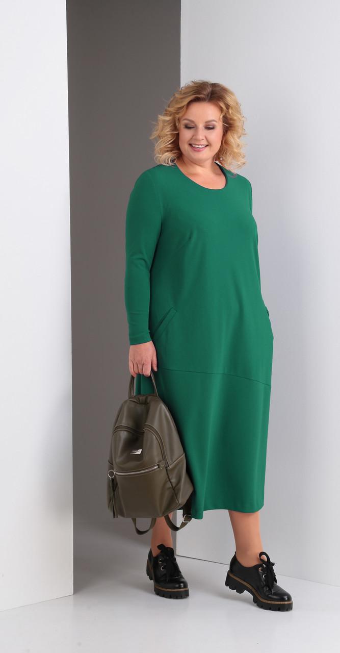Платье Novella Sharm-3323/1, зеленый, 62