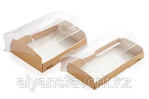 Eco OpBox 600 мл- короб с прозрачной крышкой, размер: 200*100*40 мм.РФ, фото 2