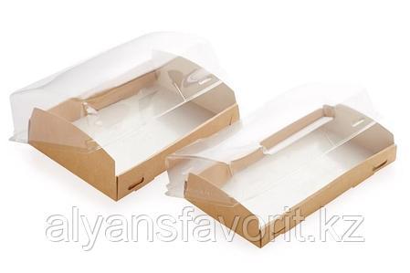 Eco OpBox 1000 мл. - короб с прозрачной крышкой., размер: 185*140*55 мм.РФ, фото 2