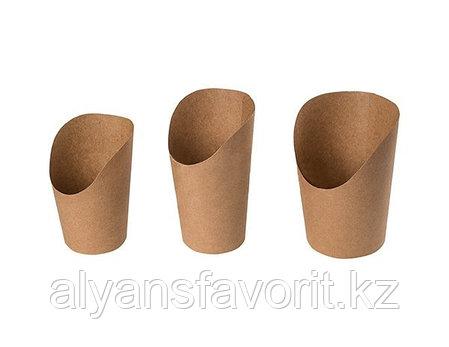 ЕcoSnack Cup М- упаковка для картофеля фри,снеков и поп корна. 480 мл. РФ, фото 2