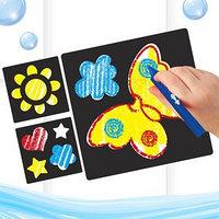Карандаши 3 цвета для ванной 'Чудесный день!', рисование по кафелю, ПВС трафареты 3 шт.