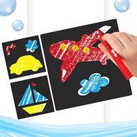 Мелки для рисования в ванной 'Транспорт', набор мелки 3 шт., трафареты 3 шт.