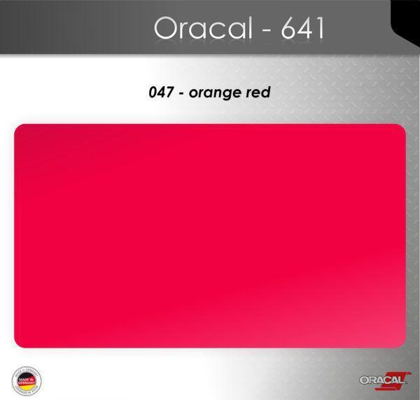Пленка Оракал 641/красно-оранжевый (047)