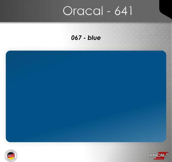 Пленка Оракал 641/синий (067)