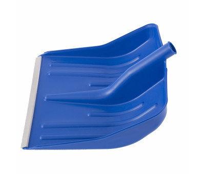 Лопата снеговая синяя, 400 х 420 мм, без черенка, пластмассовая, алюминиевая окантовка, фото 2
