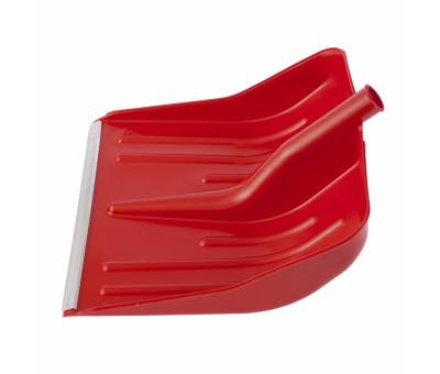 Лопата снеговая красная, 400 х 420 мм, без черенка, пластмассовая, алюминиевая окантовка