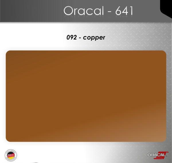 Пленка Оракал 641/медный (092)