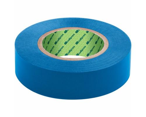 Изолента ПВХ, 15 мм х 10 м, 130 мкм, синяя