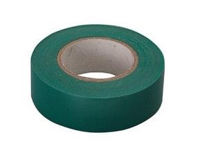 Изолента ПВХ, 15 мм х 10 м, 130 мкм, зеленая