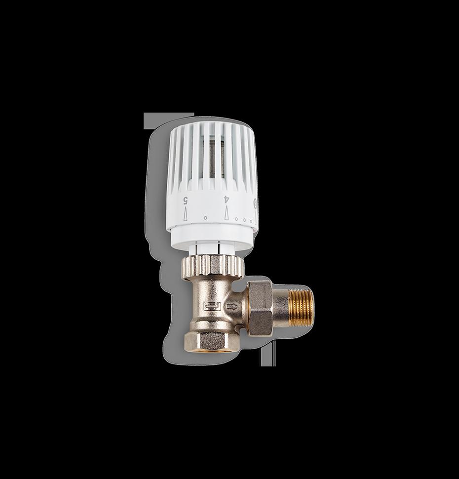 Термостатический клапан радиаторный угловой