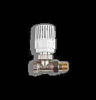 Прямой термостатический угловый клапан