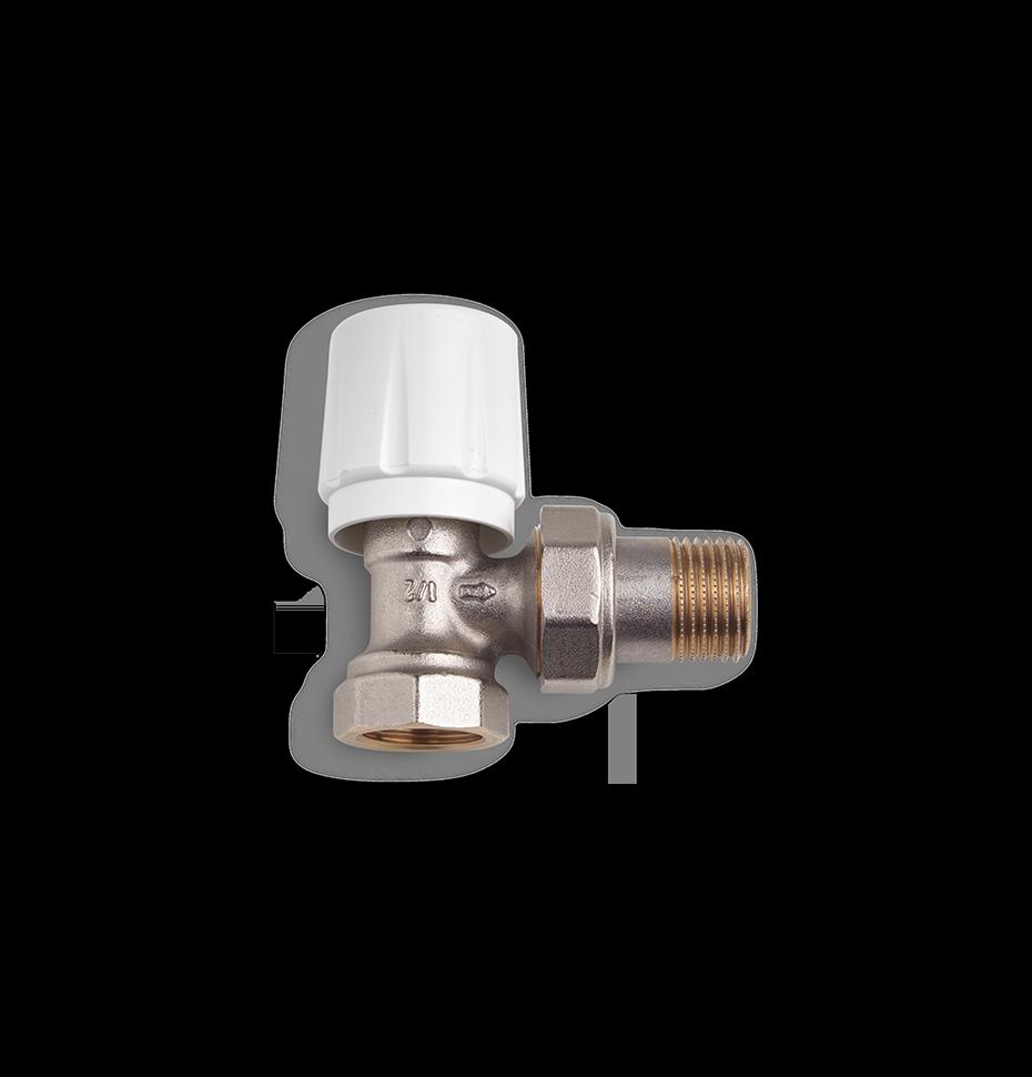 Угловой радиаторный клапан