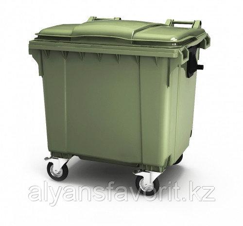 Крупногабаритный контейнер для мусора 1100 литров с крышкой РФ.