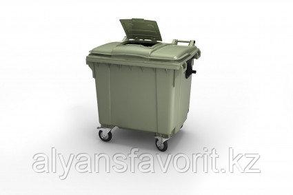Крупногабаритный контейнер для мусора 1100 литров с крышкой РФ., фото 2