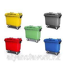 Крупногабаритный мусорный контейнер на 660 литров с крышкой РФ.