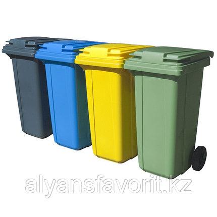 Мусорный контейнер на 120 литров с крышкой. РФ., фото 2
