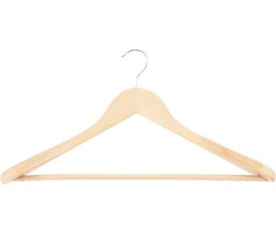 Вешалка деревянная для верхней одежды с антискользящей перекладиной
