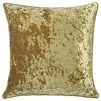 Чехол на подушку СЕБРИНА 50х50 бархат золотой ИКЕА, IKEA, фото 1