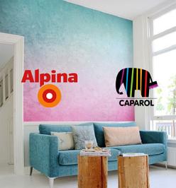 Краски, грунтовки, декор Caparol и ALPINA