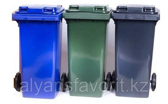 Мусорный контейнер на 360 литров с крышкой. РФ