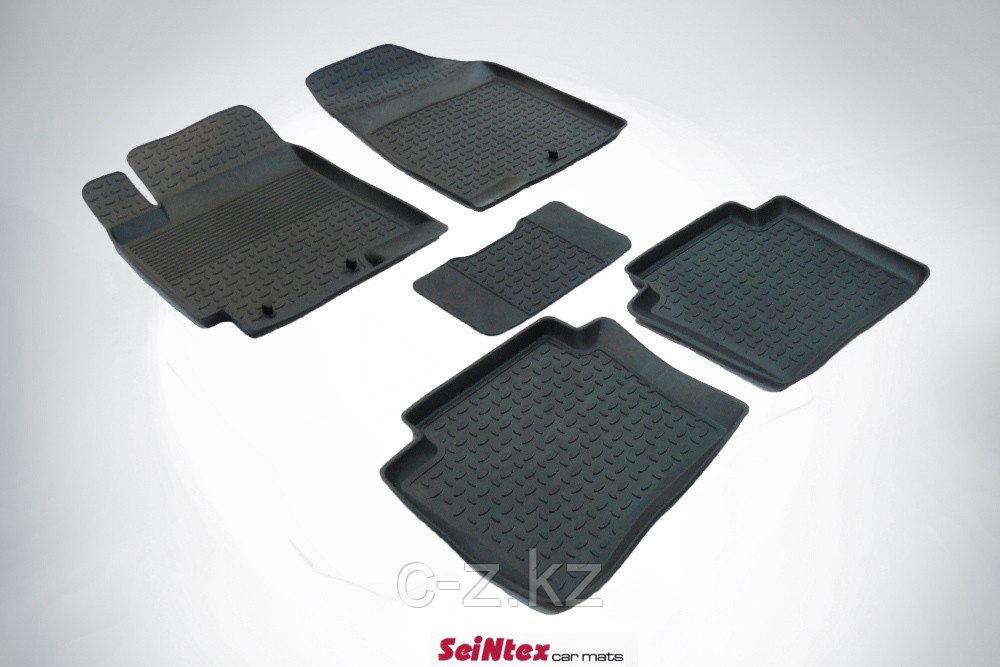 Резиновые коврики с высоким бортом для KIA Rio III 2011-н.в./Hyundai Accent