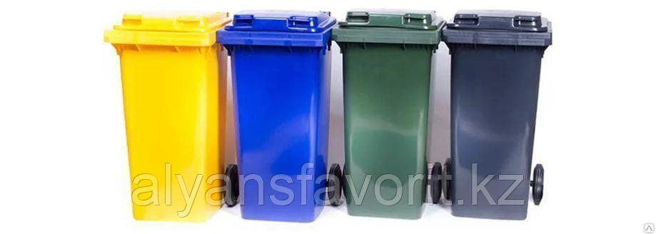 Мусорный контейнер на  240 литров с крышкой. РФ, фото 2
