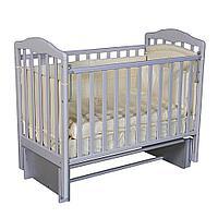 Детская кроватка АЛИТА 3/5 серый (универсальный маятник, автостенка), фото 1