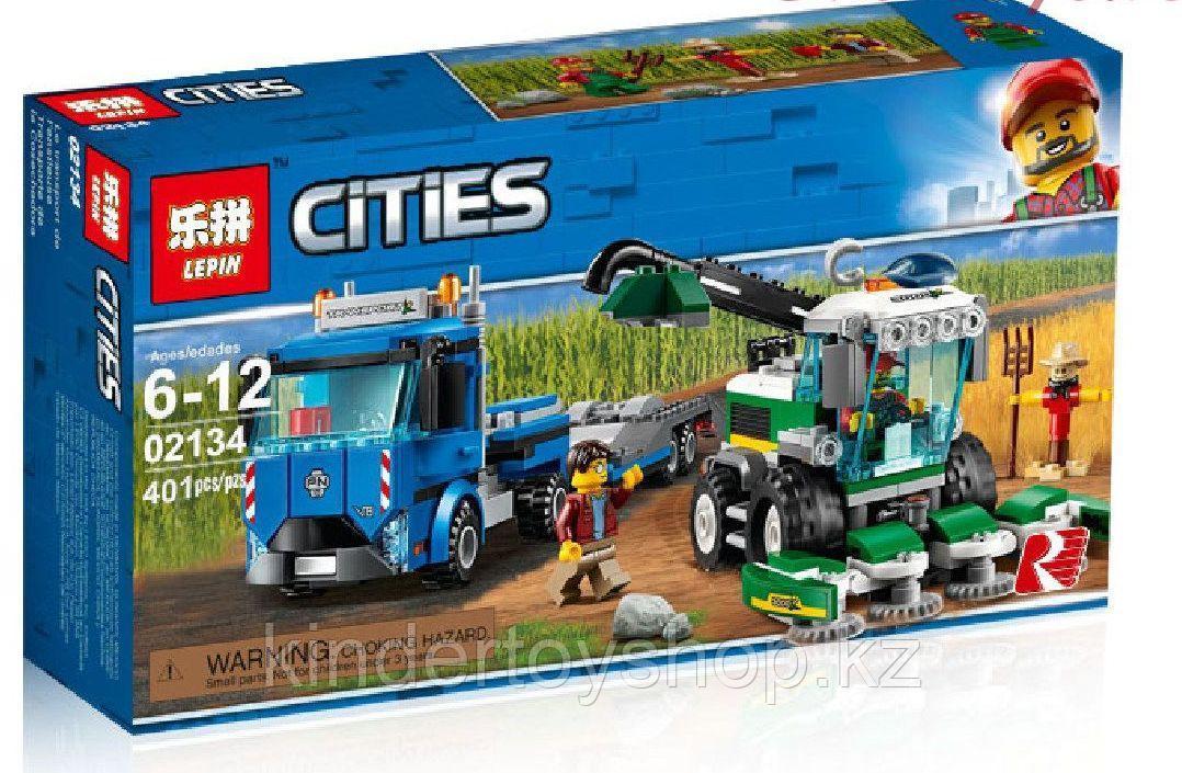 Конструктор Аналог LEGO City 60223 LEPIN Cities 02134 Транспортировщик для комбайнов  401 дет
