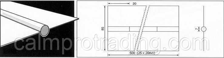 Керамическая подкладка PZ 1500/50 Brown,Tape,Round