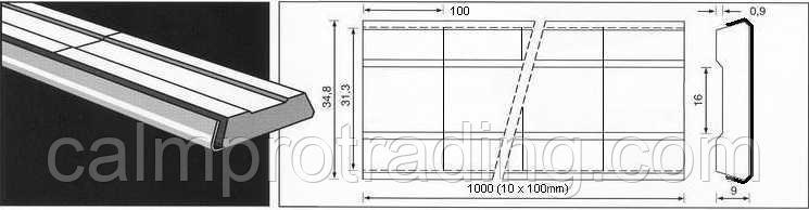 Керамическая подкладка PZ 1500/03 Brown, Rail, Rectang